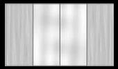 Двери-купе вставка матовое зеркало