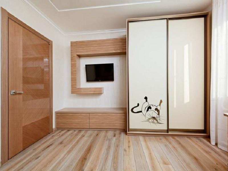 2-х дверный шкаф-купе в спальню Велла