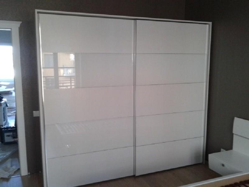Шкаф-купе 2-х дверный белый корпусный Олса