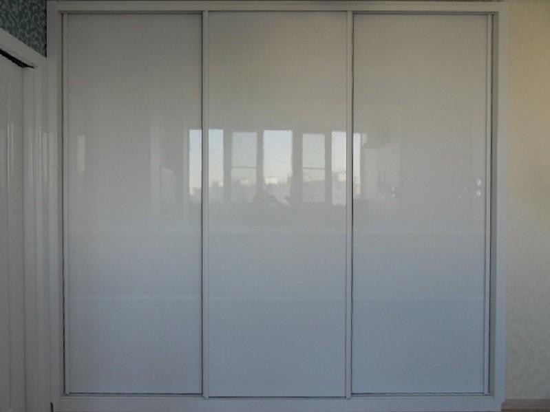 Встроенный шкаф-купе белый лакобель Гомель