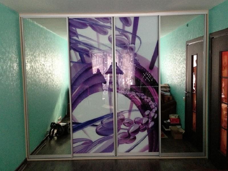 Зеркальный шкаф-купе с фотопечатью Капри