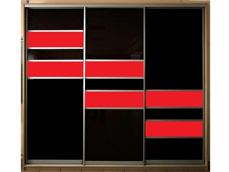 Черно-красный шкаф-купе оракал Мерк