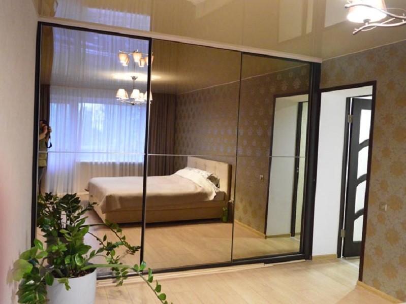 Шкаф-купе встройка зеркало графит Шерз