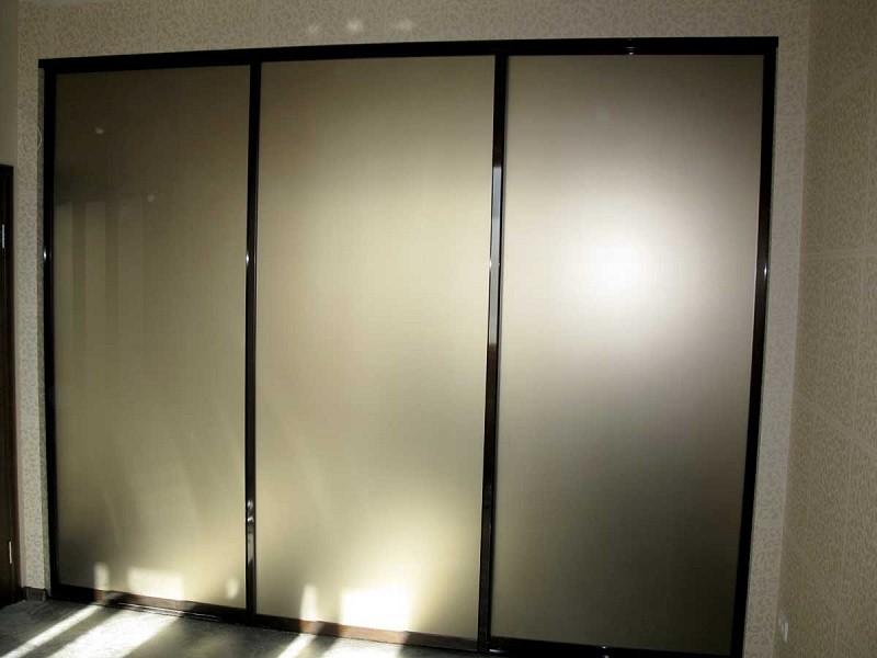 Шкаф-купе двери зеркало сатин Стейр