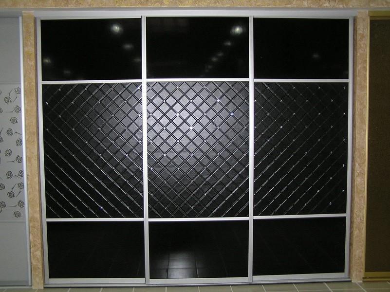 Шкаф-купе кожа №015