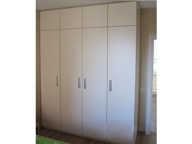 Распашной 4-дверный шкаф с антресолями Юльет