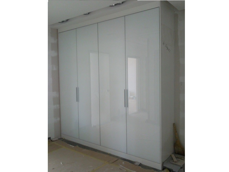 Распашной шкаф 4 двери белый глянец Вудсток