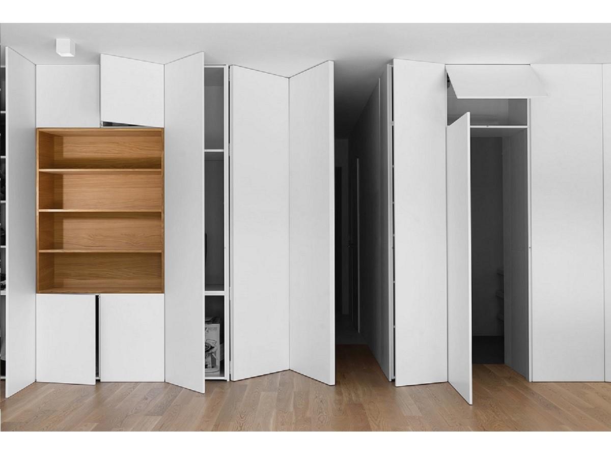 Встроенный шкаф-гармошка №107