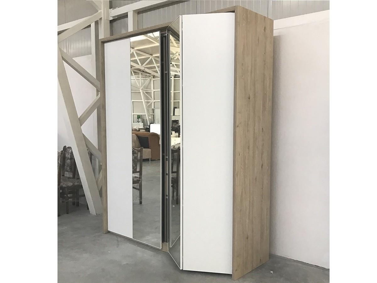 Шкаф-гармошка зеркало с ЛДСП №108