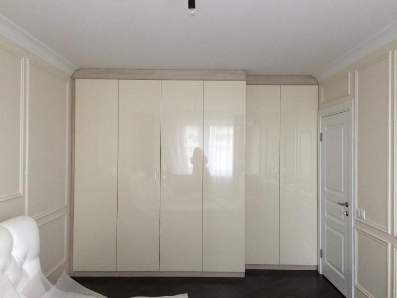 Встроенный распашной шкаф 6-дверный №1221
