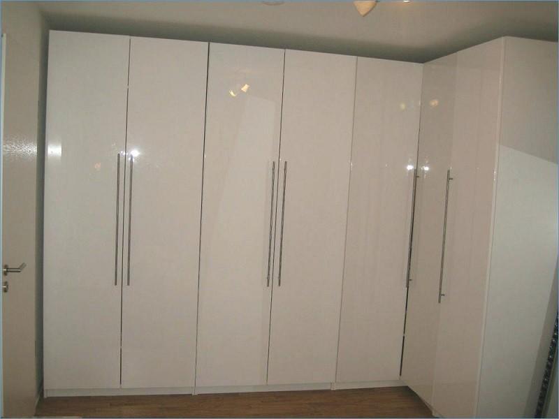 Г -образный белый глянцевый шкаф №1282