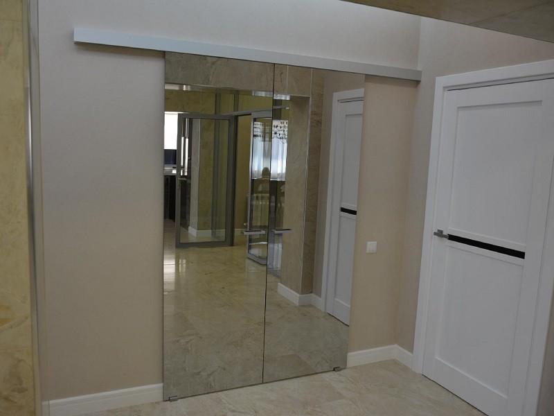 Раздвижные зеркальные межкомнатные двери
