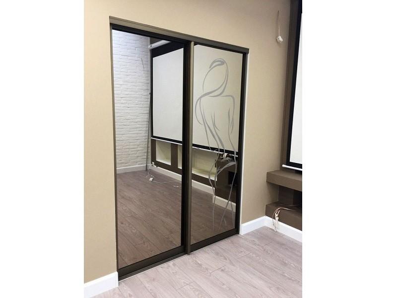Подвесные зеркальные двери-купе