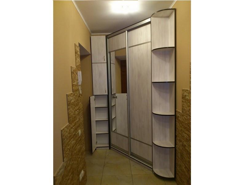 Встроенный гардеробный шкаф-купе для прихожих 0316