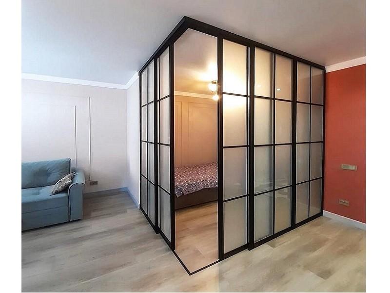 Шкаф перегородка для зонирования комнаты №0467