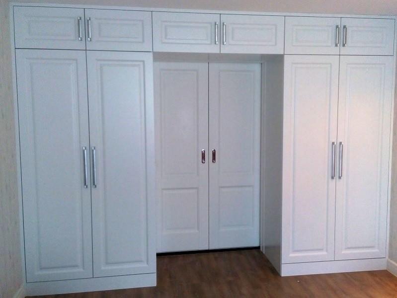 Шкаф вокруг двери МДФ матовый №0460