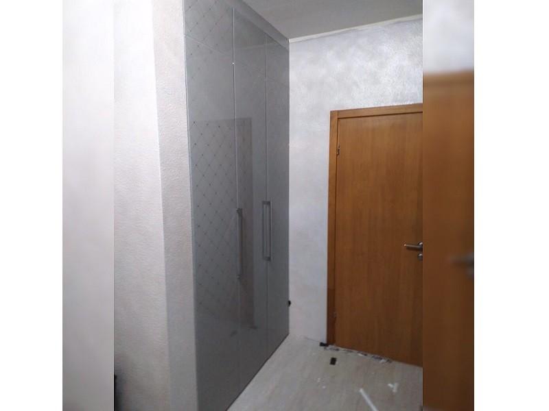 Шкаф гармошка с антресолью №127 вид сбоку