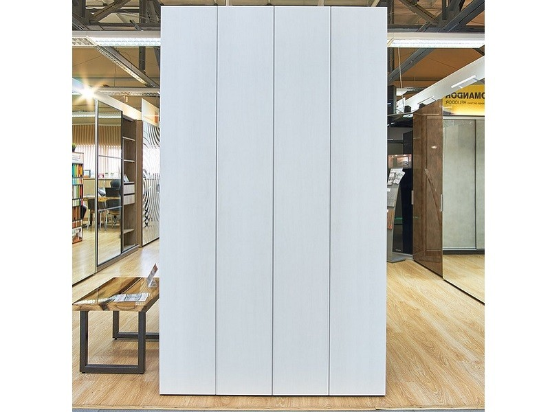 Белый шкаф гармошка №124 фасады