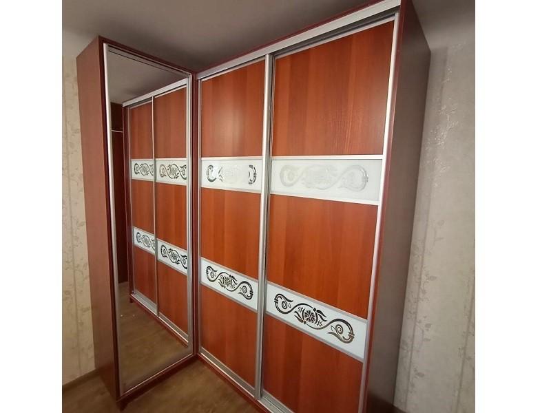 Угловой комбинированный шкаф-купе №453