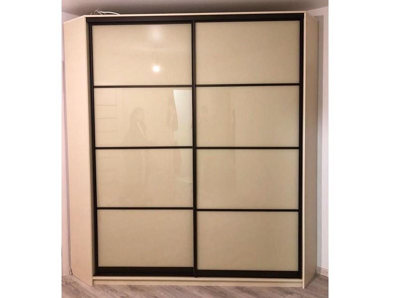 Угловой шкаф-купе стекло с делителями №451