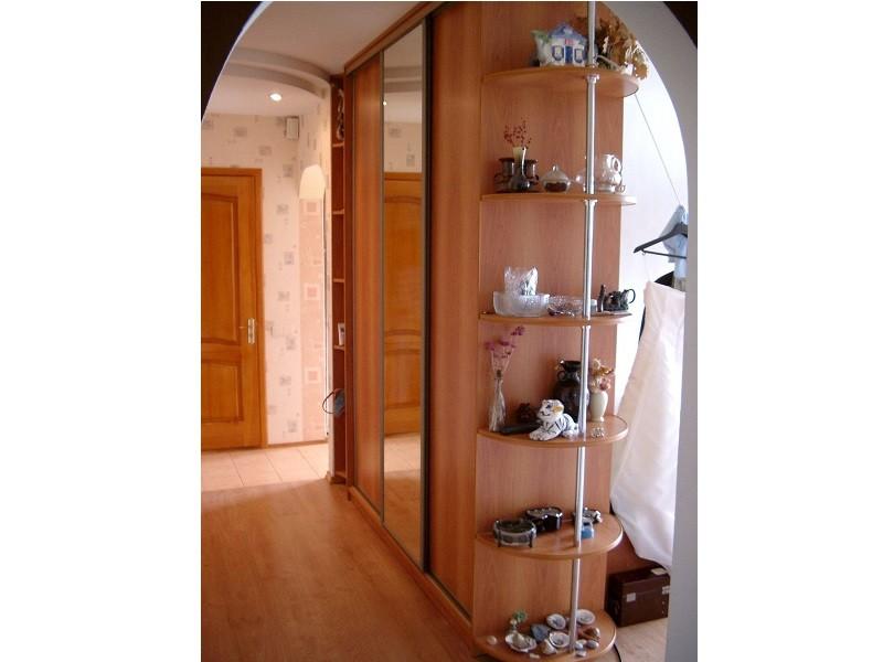 Шкаф перегородка 2-сторонний с зеркалом №0481