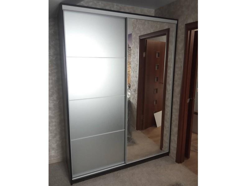 Двери-купе зеркало сатин и зеркало серебро