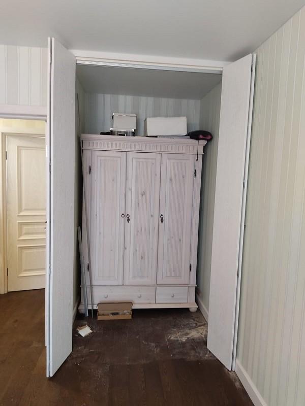 Складные двери hettich wing-line МДФ пленка открытые