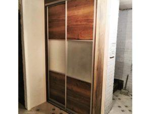 двери для шкафа купе зеркало сатин